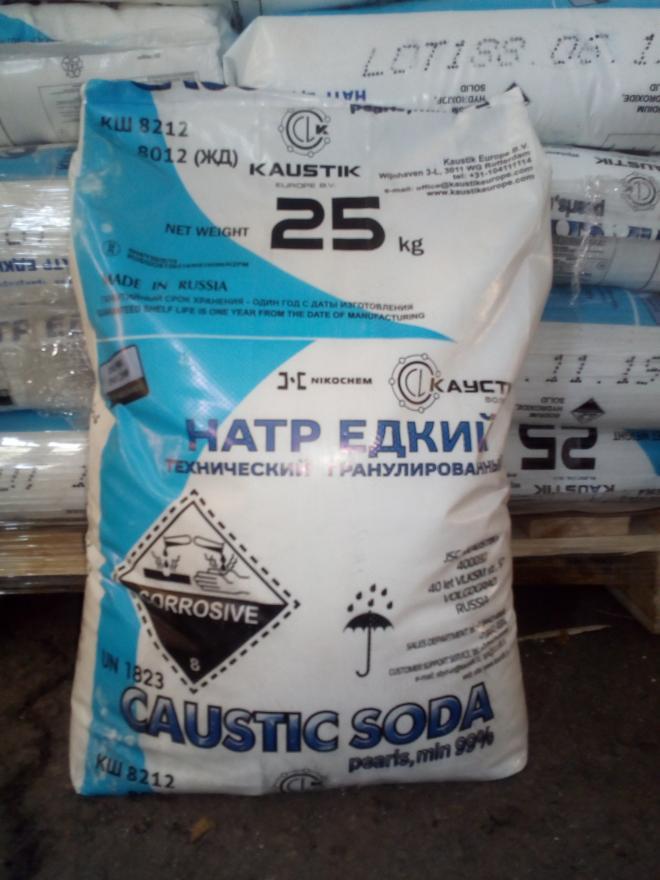 Сода каустическая (натр едкий технический) гранулы в Киеве