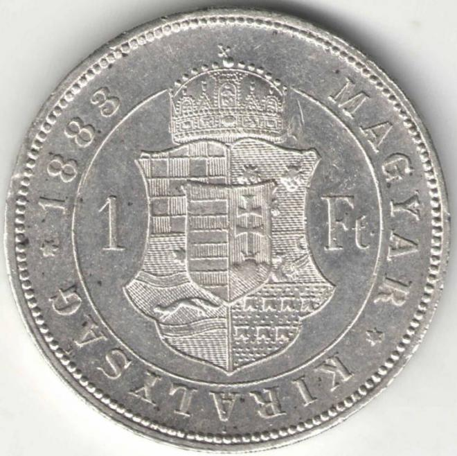 Австро-Венгрия 1 Форинт 1883 Серебро