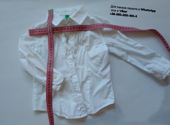 Белая блузка блуза детская united colors of benetton белая рубашка