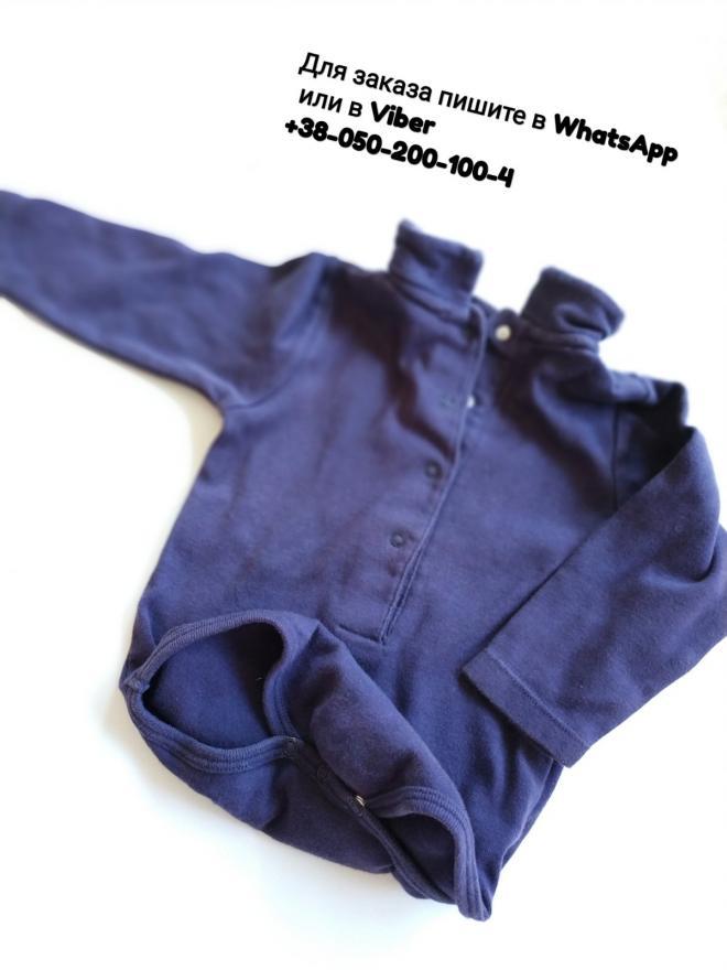 Бодик базовый с воротником фиолетовый Vertbaudet боди детский