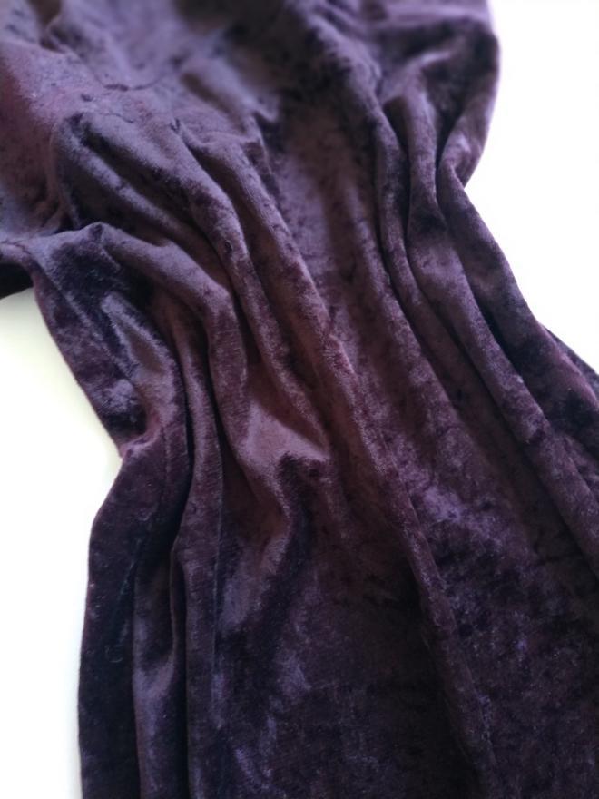 Детское велюровое платье new look  темно фиолетовое велюр сукня