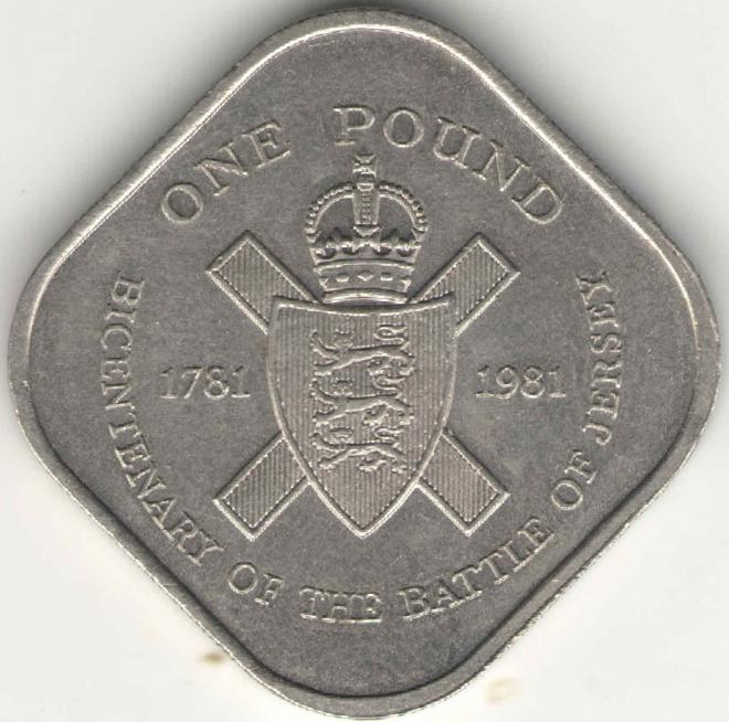 Джерси 1 фунт 1981 200 лет штурму Джерси