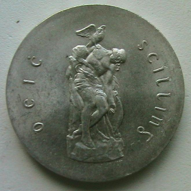Ирландия 10 шиллингов 1966 Пасхальное восстание Серебро Толстая aUNC