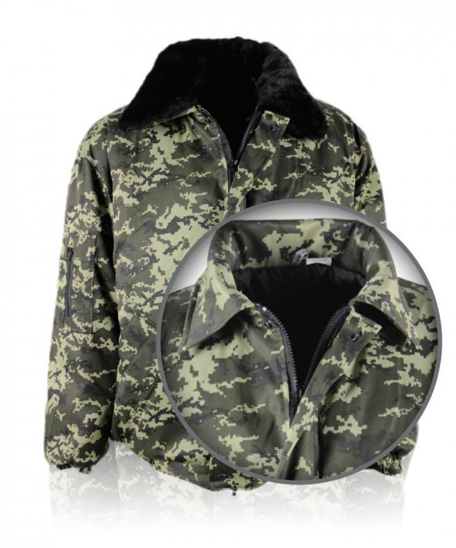 Куртка утепленная рабочая камуфляж цифра