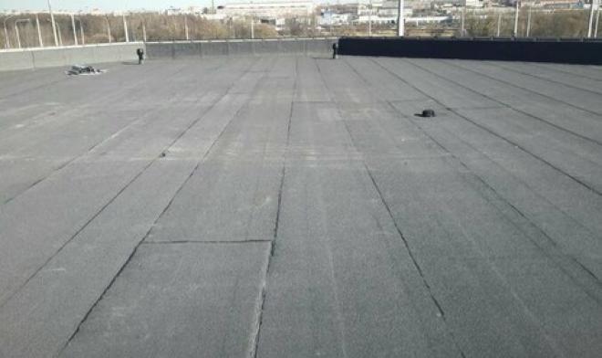 Ремонт крыши,укладка еврорубероида в Каменском
