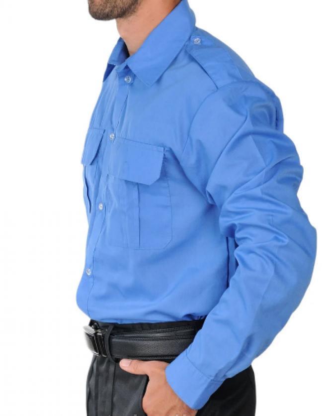 Рубашка форменная с длинным рукавом голубая