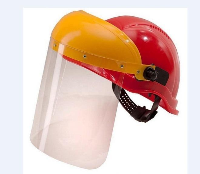 Щиток защитный КБТ - для каски  строителя со сменным экраном