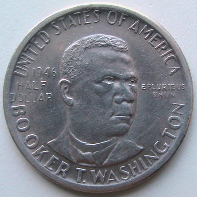 США ½ доллара 1946 S Букер Талиафер Вашингтон Серебро
