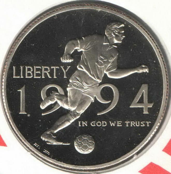 США ½ доллара 1994 Р, Чемпионат мира по футболу 1994, КПД, Тираж