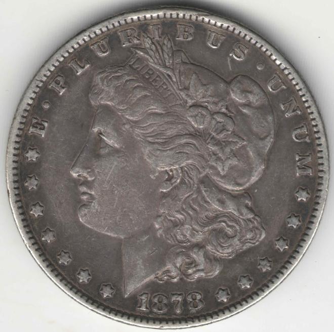 США 1 доллар 1878 Доллар Моргана Morgan Dollar Серебро