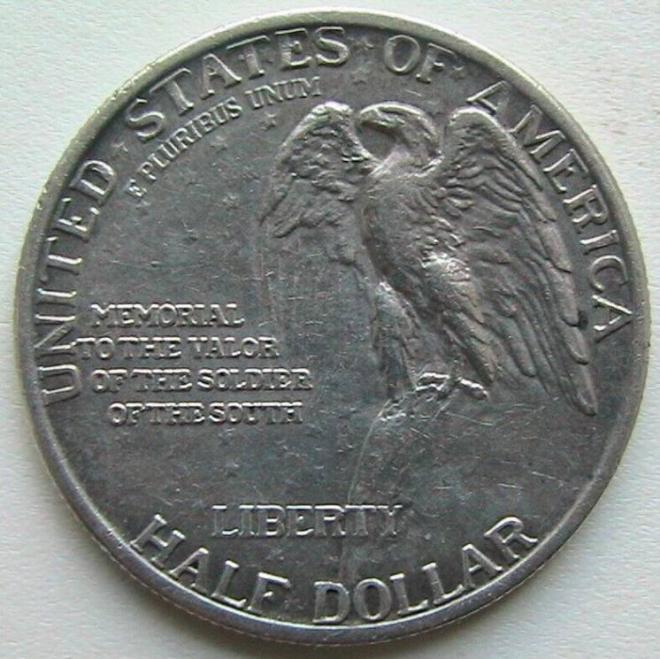 США 1/2 Доллара 1925 Мемориал Стоун-Маунтин Half Dollar Серебро