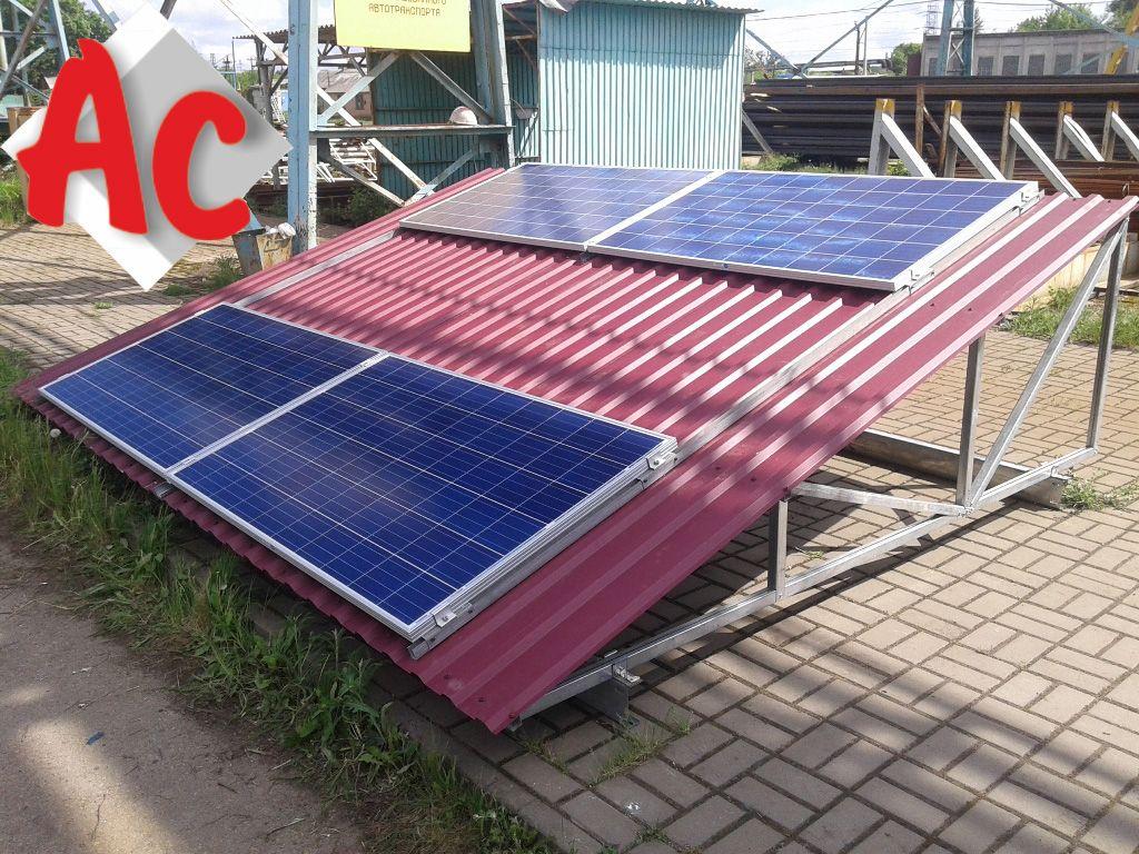 Оцинкованный профиль для крепления солнечных панелей
