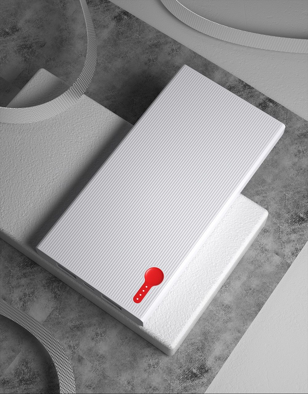Повербанк PowerBank Essager Slim 10000 мАч Белый