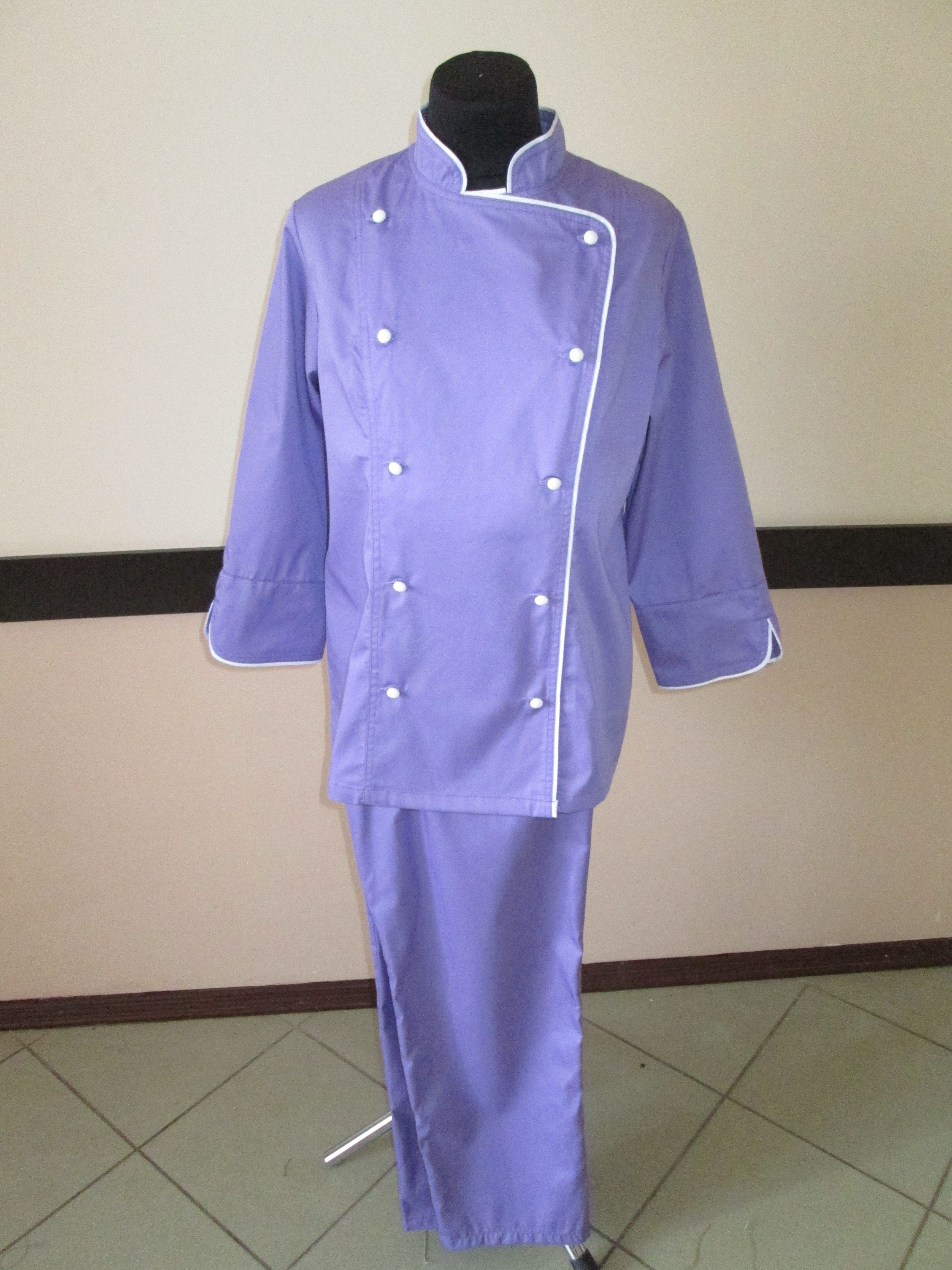 Униформа для поваров, китель и брюки поварские